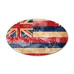 Hawaii Flag 38.5 x 24.5 Oval Wall Peel