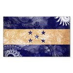 Honduras Flag Sticker (Rectangle 10 pk)