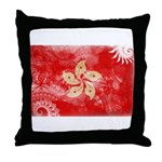 Hong Kong Flag Throw Pillow