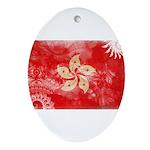 Hong Kong Flag Ornament (Oval)