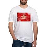 Hong Kong Flag Fitted T-Shirt