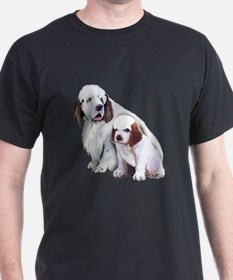 Clumber Mom and Pup T-Shirt