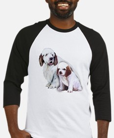 Clumber Mom and Pup Baseball Jersey