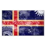 Iceland Flag Sticker (Rectangle 50 pk)