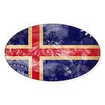 Iceland Flag Sticker (Oval 50 pk)