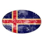 Iceland Flag Sticker (Oval 10 pk)