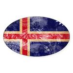 Iceland Flag Sticker (Oval)