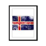 Iceland Flag Framed Panel Print