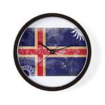 Iceland Flag Wall Clock