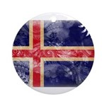 Iceland Flag Ornament (Round)