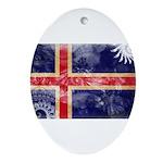Iceland Flag Ornament (Oval)