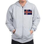 Iceland Flag Zip Hoodie