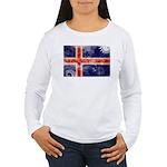 Iceland Flag Women's Long Sleeve T-Shirt