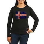 Iceland Flag Women's Long Sleeve Dark T-Shirt