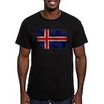 Iceland Flag Men's Fitted T-Shirt (dark)