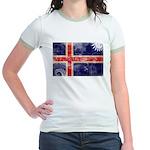 Iceland Flag Jr. Ringer T-Shirt