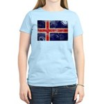 Iceland Flag Women's Light T-Shirt