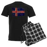 Iceland Flag Men's Dark Pajamas