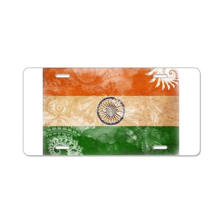 India Flag Aluminum License Plate