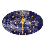 Indiana Flag Sticker (Oval 50 pk)