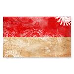 Indonesia Flag Sticker (Rectangle 10 pk)