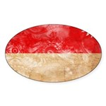 Indonesia Flag Sticker (Oval 50 pk)