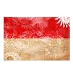 Indonesia Flag Postcards (Package of 8)