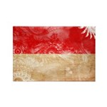 Indonesia Flag Rectangle Magnet (100 pack)