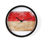 Indonesia Flag Wall Clock