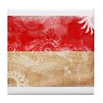 Indonesia Flag Tile Coaster