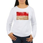 Indonesia Flag Women's Long Sleeve T-Shirt