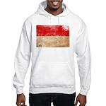 Indonesia Flag Hooded Sweatshirt