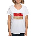 Indonesia Flag Women's V-Neck T-Shirt