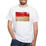 Indonesia Flag White T-Shirt