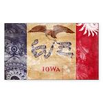 Iowa Flag Sticker (Rectangle 10 pk)
