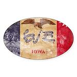 Iowa Flag Sticker (Oval 50 pk)