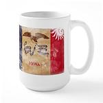 Iowa Flag Large Mug