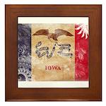 Iowa Flag Framed Tile