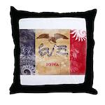 Iowa Flag Throw Pillow