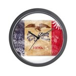 Iowa Flag Wall Clock