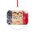 Iowa Flag Ornament (Round)