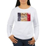 Iowa Flag Women's Long Sleeve T-Shirt