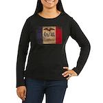 Iowa Flag Women's Long Sleeve Dark T-Shirt