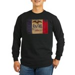 Iowa Flag Long Sleeve Dark T-Shirt