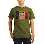 Iowa Flag Organic Men's T-Shirt (dark)