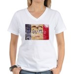 Iowa Flag Women's V-Neck T-Shirt
