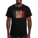 Iowa Flag Men's Fitted T-Shirt (dark)