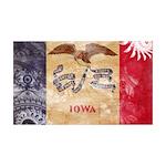 Iowa Flag 38.5 x 24.5 Wall Peel