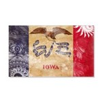 Iowa Flag 22x14 Wall Peel