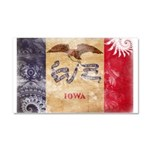 Iowa Flag Car Magnet 20 x 12